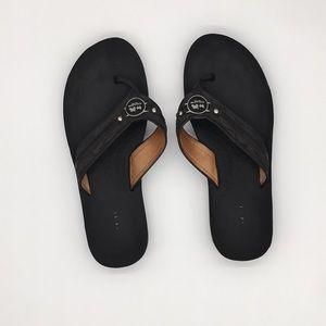 Coach Black Flip Flops Size 7